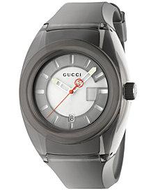 Gucci Unisex Swiss Gucci Sync Black Transparent Rubber Strap Watch 46mm