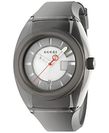 Gucci Unisex Swiss Gucci Sync Black Transparent Rubber Strap Watch 46mm