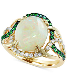 Aurora by EFFY® Multi-Gemstone (2-3/4 ct. t.w.) & Diamond (1/5 ct. t.w.) Ring in 14k gold