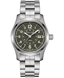 Hamilton Men's Swiss Automatic Khaki Field Stainless Steel Bracelet Watch 42mm