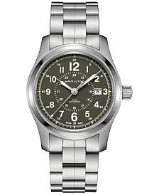 Hamilton Men's Swiss Automatic Khaki Field Stainless Steel Bracelet Watch 42mm