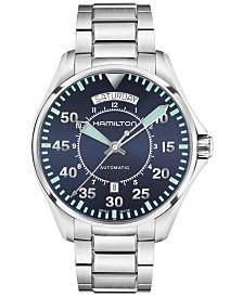 Hamilton Men's Swiss Automatic Khaki Aviation Stainless Steel Bracelet Watch 42mm