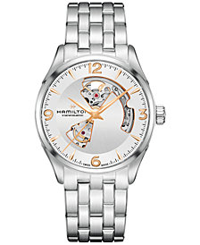 Hamilton Men's Swiss Automatic Jazzmaster Stainless Steel Bracelet Watch 40mm