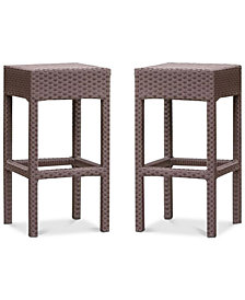 Holtan Backless Bar Stool (Set of 2), Quick Ship