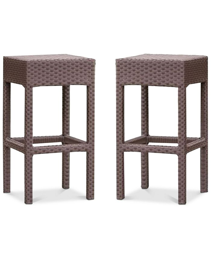 Noble House - Holtan Backless Bar Stool (Set of 2), Quick Ship