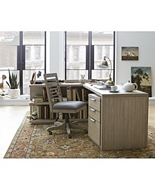 Ridgeway Home Office 4-Pc. Set (Return Desk, Peninsula USB Outlet Bookcase, Desk Chair & Mobile File Cabinet), Created for Macy's