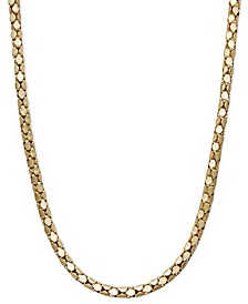 "14k Gold Necklace, 20"" Diamond Cut Popcorn Chain (1-5/8mm)"