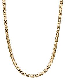 "14k Gold Necklace, 20"" Diamond Cut Popcorn Chain"