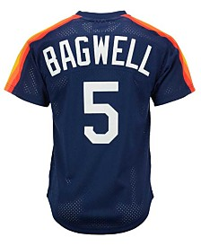 Mitchell & Ness Men's Jeff Bagwell Houston Astros Authentic Mesh Batting Practice V-Neck Jersey