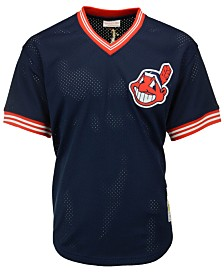Mitchell & Ness Men's Joe Carter Cleveland Indians Authentic Mesh Batting Practice V-Neck Jersey