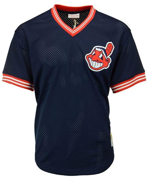 factory authentic f3c0a 74544 Men's Joe Carter Cleveland Indians Authentic Mesh Batting Practice V-Neck  Jersey