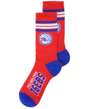 Philadelphia 76ers 4 Stripe Deuce Crew Socks