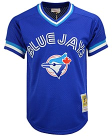Men's Joe Carter Toronto Blue Jays Authentic Mesh Batting Practice V-Neck Jersey