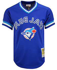 Mitchell & Ness Men's Joe Carter Toronto Blue Jays Authentic Mesh Batting Practice V-Neck Jersey