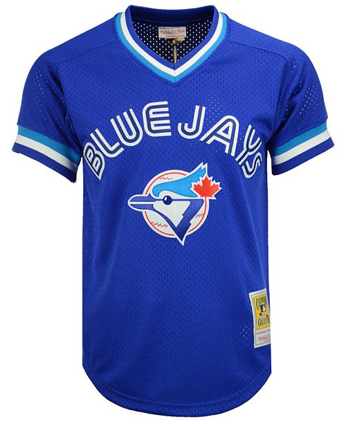 huge selection of 1d792 e15e9 Men's Joe Carter Toronto Blue Jays Authentic Mesh Batting Practice V-Neck  Jersey