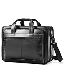 Samsonite Leather Expandable Laptop Briefcase