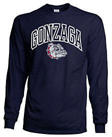 J America Gonzaga Bulldogs Long Sleeve T-Shirt, Big Boys (8-20)