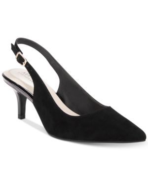 Image of Alfani Women's Step 'N Flex Babbsy Pointed-Toe Slingback Mules, Created for Macy's Women's Shoes