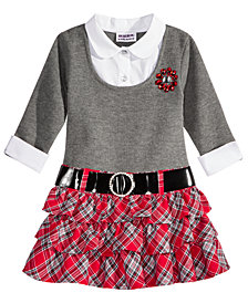 Blueberi Boulevard Schoolgirl Plaid Dress, Little Girls