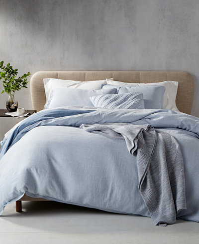 CLOSEOUT! Hotel Collection Cornflower Linen Bedding Collection, Created for Macy's