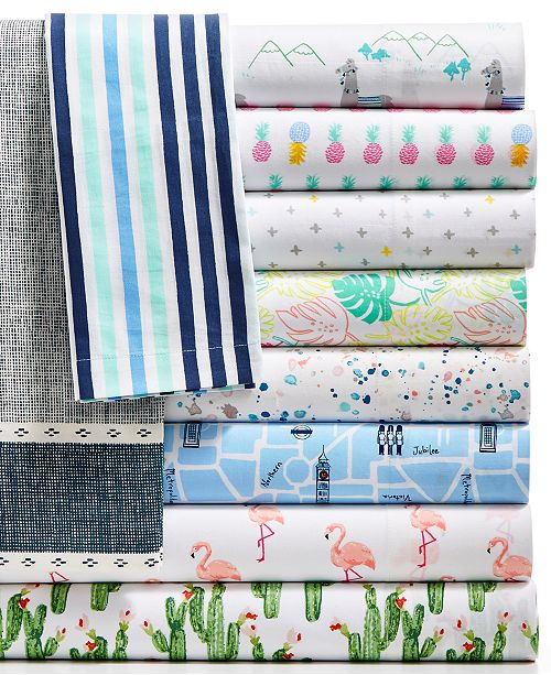 Martha Stewart Collection Closeout Novelty Print Cotton Percale
