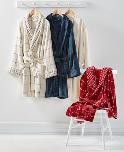 Martha Stewart Collection Plush Bath Robe, Created for Macy's