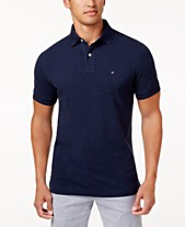 1427fab26a2 Tommy Hilfiger Men s Custom Fit Ivy Polo