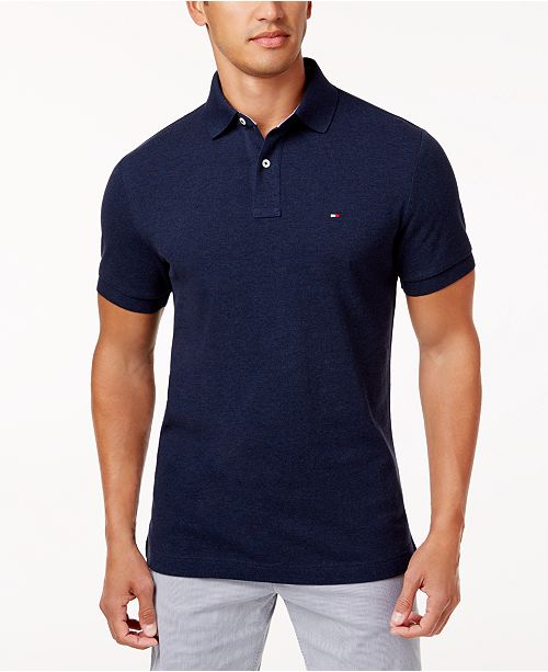 Tommy Hilfiger Men s Custom Fit Ivy Polo, Created for Macy s - Polos ... ba0ae4a28d