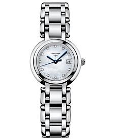 Women's PrimaLuna Diamond Accent (1/3 ct. t.w.) Stainless Steel Bracelet Watch L81104876