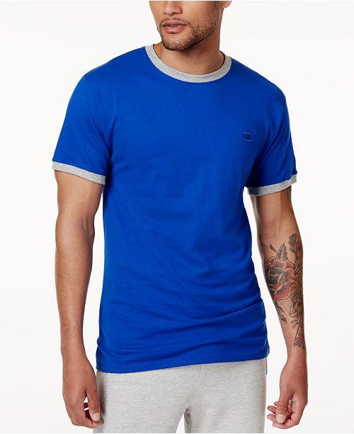 13a51bfcc307 Champion Men s Classic Jersey Ringer T-Shirt   Reviews - T-Shirts ...