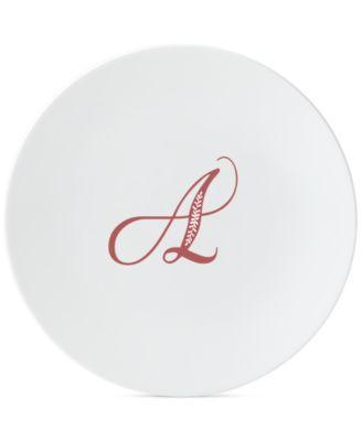 Merlot Script Monogram Accent Plate