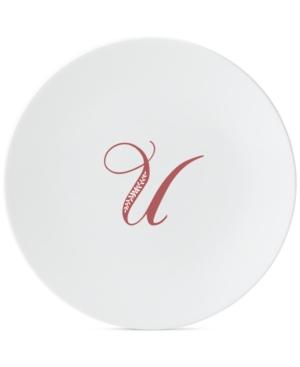 Lenox Merlot Script Monogram Accent Plate