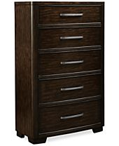 Fairbanks 5 Drawer Chest with Hidden Storage Drawer, Created for Macy's