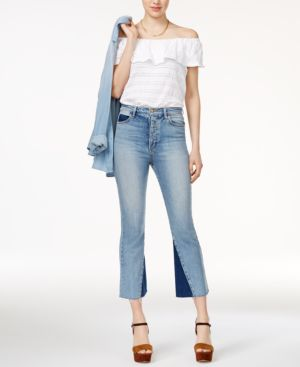 THE BELLA CROP FLARE JEANS