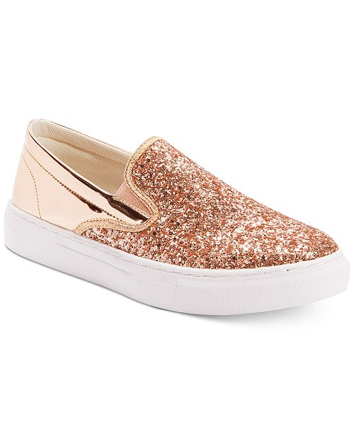 Wanted Spangle Glitter Slip-On Sneakers