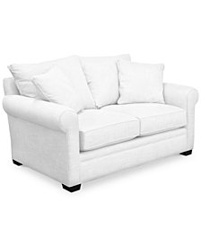 "Dial II 67"" Fabric Loveseat with 2 Toss Pillows"