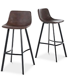 Ressen Bar Stool (Set Of 2), Quick Ship