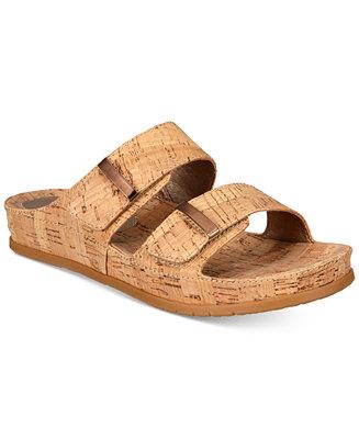 55a067fdc4a0 Baretraps Cherilyn Memory Foam Slide Flat Sandals   Reviews - Sandals    Flip Flops - Shoes - Macy s