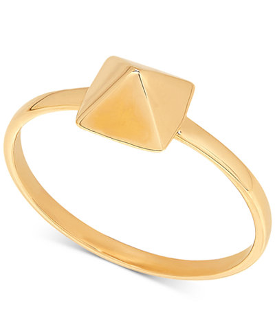 Tiny Pyramid Statement Ring in 14k Gold