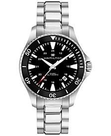 Men's Swiss Automatic Khaki Navy Stainless Steel Bracelet Watch 40mm