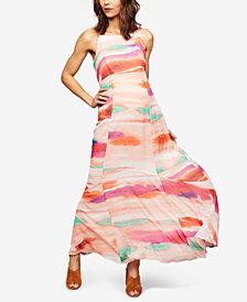A Pea In The Pod Maternity Watercolor-Print Maxi Dress