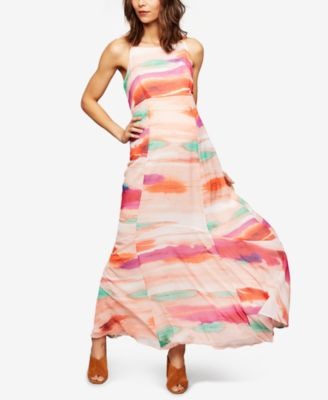 Perfect A Pea In The Pod Maternity Watercolor Print Maxi Dress