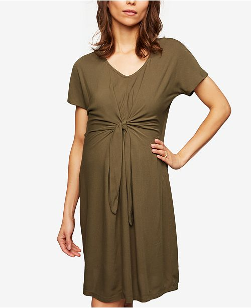 15797fef39 Seraphine Maternity Tie-Front Dress   Reviews - Maternity - Women ...