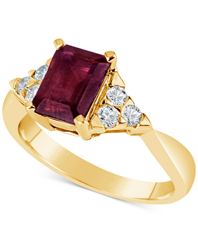 Certified Ruby (1-3/4 ct. t.w.) & Diamond (1/4 ct. t.w.) Ring in 14k Gold