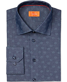 Tallia Men's Fitted Circle Dot Print Dress Shirt