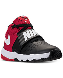 Nike Big Boys'   Team Hustle D8 Basketball Sneakers from Finish Line