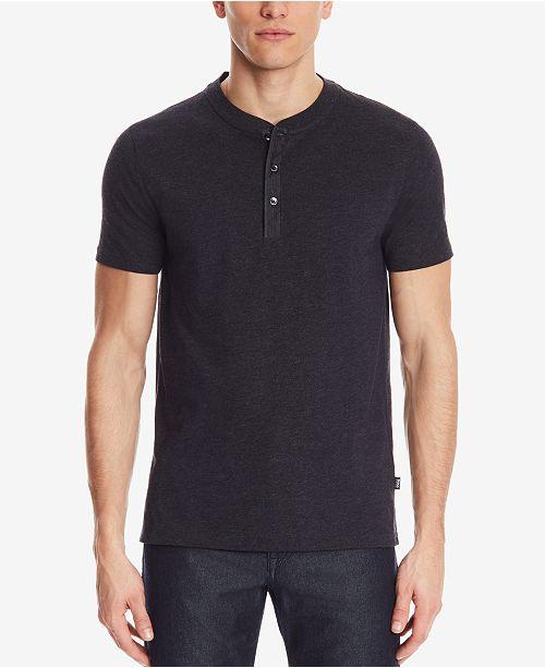 4ecce1ae0 Hugo Boss BOSS Men's Slim-Fit Henley T-Shirt & Reviews - T-Shirts ...