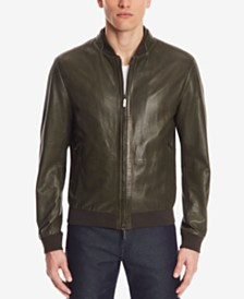 BOSS Men's Regular/Classic-Fit Perforated Nappa Leather Jacket