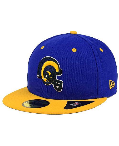 New Era Los Angeles Rams 2 Tone 59FIFTY Cap - Sports Fan Shop By ... 2789e49b8683