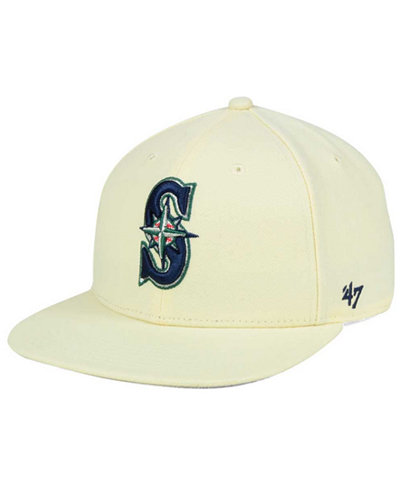'47 Brand Seattle Mariners Natural No Shot Snapback Cap